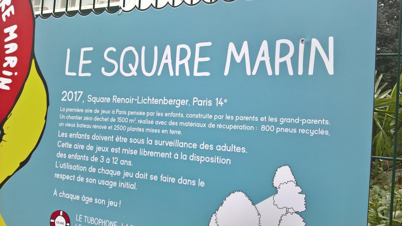 Super découverte le Square Marin