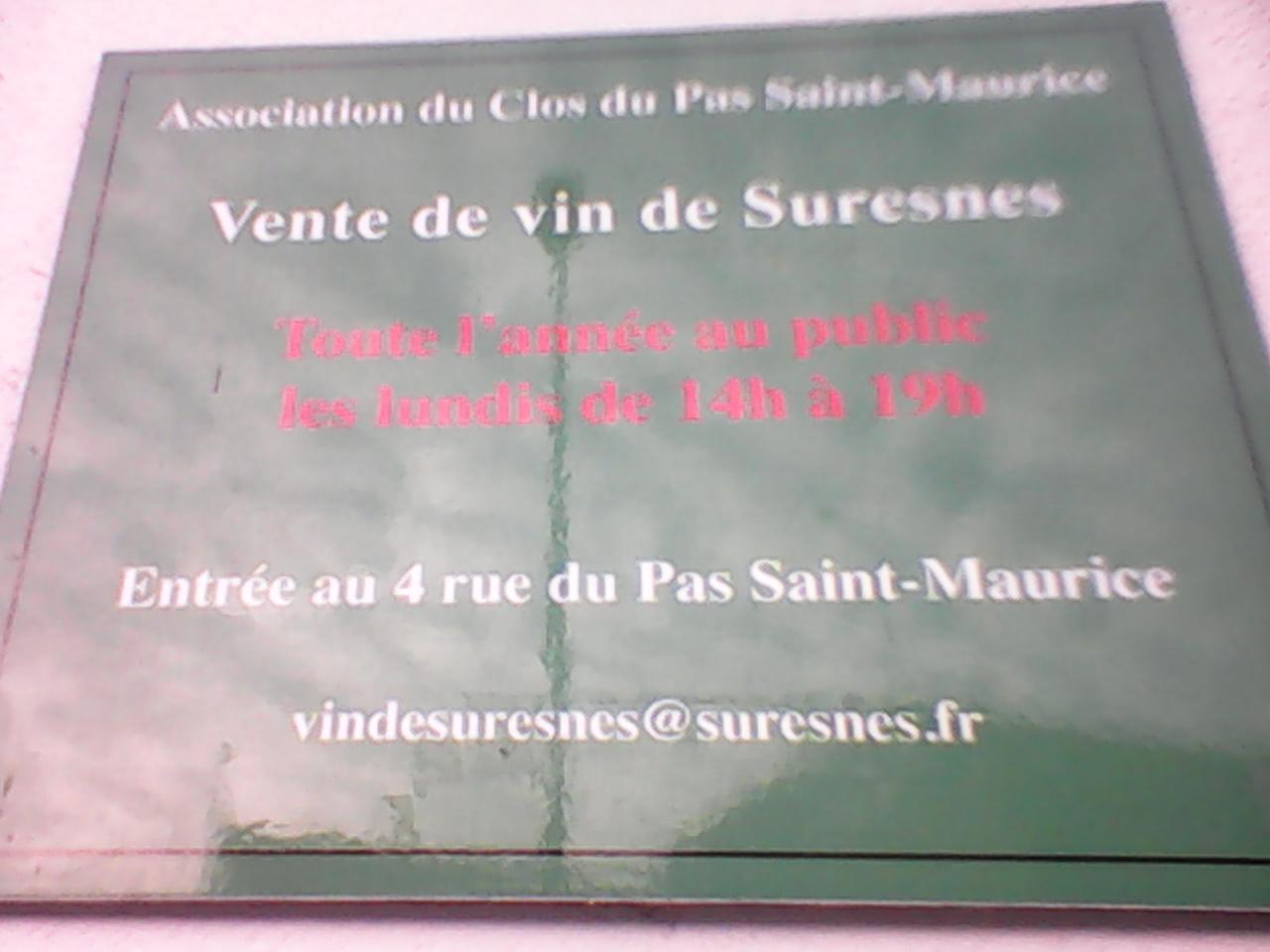 Infos sur la vigne de Suresnes