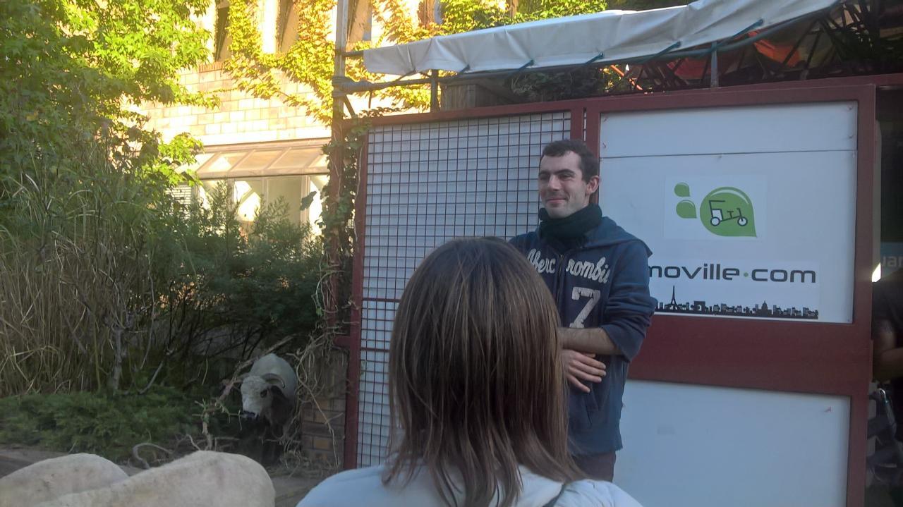 Belle présentation de son projet aux participants du MOOC