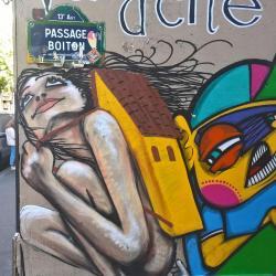 Ce passage est un régal pour les street artistes !