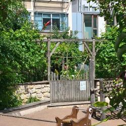 Un jardin partagé, bien caché !