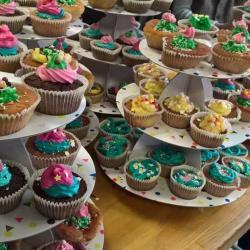 Il y a du cup cake pour l'anniversaire du Moulin à Café !
