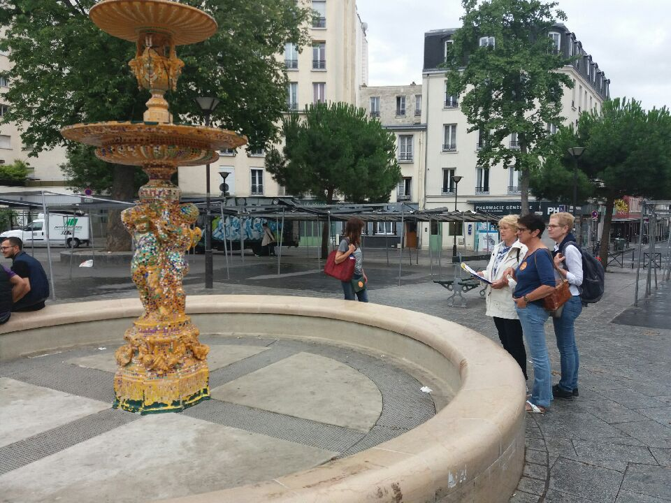 Magnifique fontaine en mosaïque !