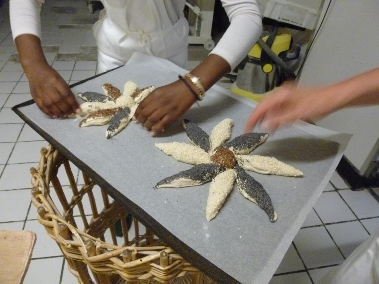 Atelier boulang' finition avant de faire cuire