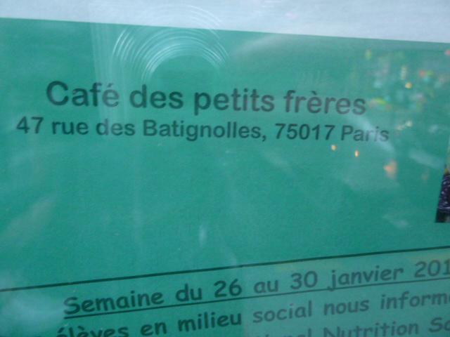 Adresse du Café des Petits Frères
