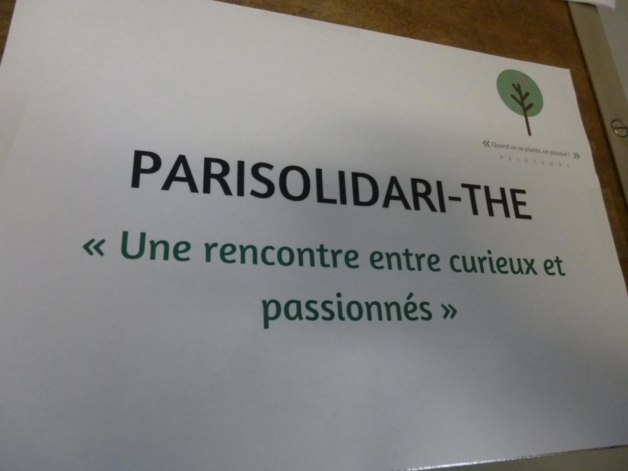 Slogan de PariSolidari-Thé