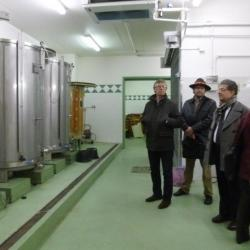 Visite des cuves de la vigne de Suresnes