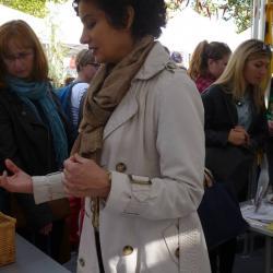 Frédérique présente ses créations culinaires
