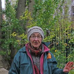 Merci à Claudie pour la présentation du jardin partagé