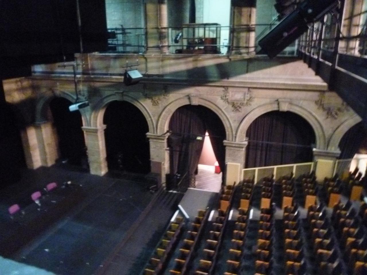 Perspective inédite du théâtre de la Villette
