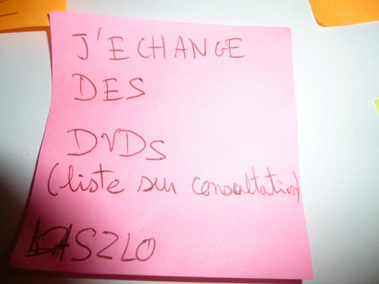 Troc de dvd (la liste est longue)