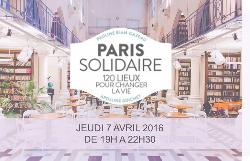 PariSolidari-Thé à l'Archipel pour le lancement du guide Paris Solidaire