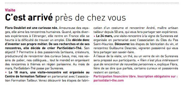 Magazine de Suresnes découvertes insolites vigne tailleur artisan
