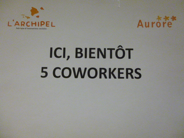 Visite de l'espace de co-working de l'Archipel